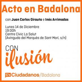 E-20D | Inés Arrimadas y Juan Carlos Girauta el lunes 14 de diciembre en Badalona
