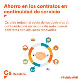 Cs Badalona apuesta por ahorrar en los contratos de prestación de servicio realizando nuevos concursos